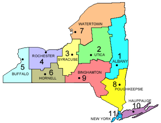 Figure 1. New York State Department of Transportation Regions